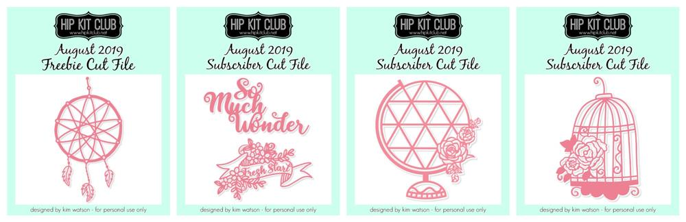 August 2019 Hip Kit Club Cut Files