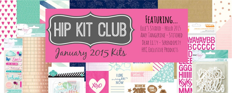 January 2015 Scrapbook Kits