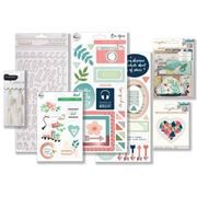March 2018 Hip Kit Club Embellishment Scrapbook Kit