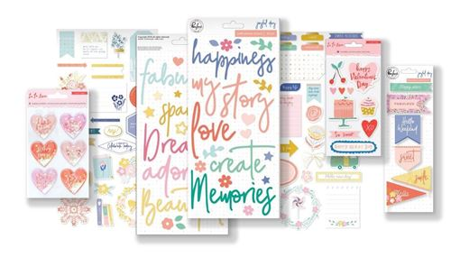 February 2019 Hip Kit Club Embellishment Scrapbook Kit