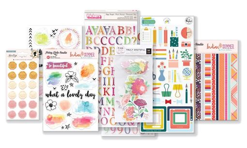 August 2019 Hip Kit Club Embellishment Scrapbook Kit