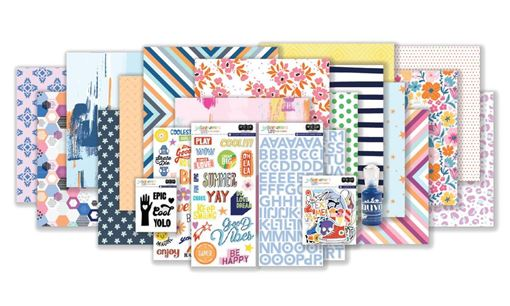 August 2020 Hip Kit Club Main Scrapbook Kit