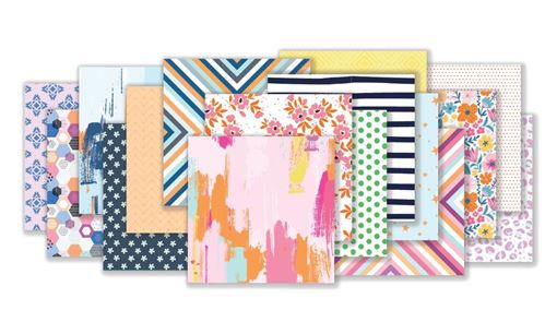 August 2020 Hip Kit Club Paper Scrapbook Kit
